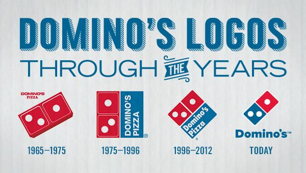 הלוגו של פיצה דומינוס לאורך השנים